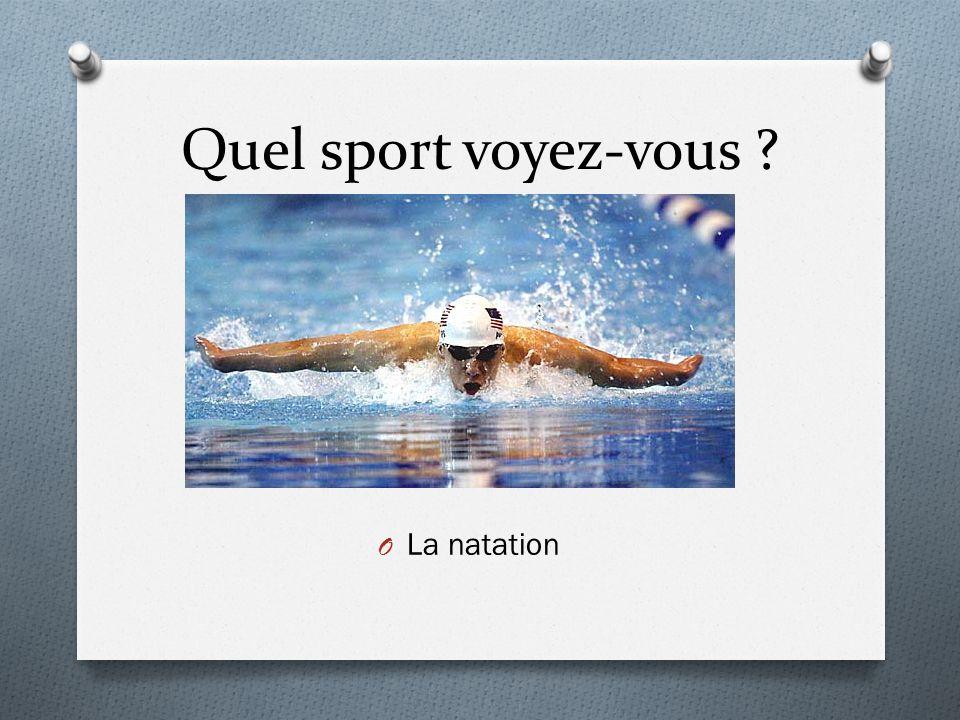 Quel sport voyez-vous ? O La natation