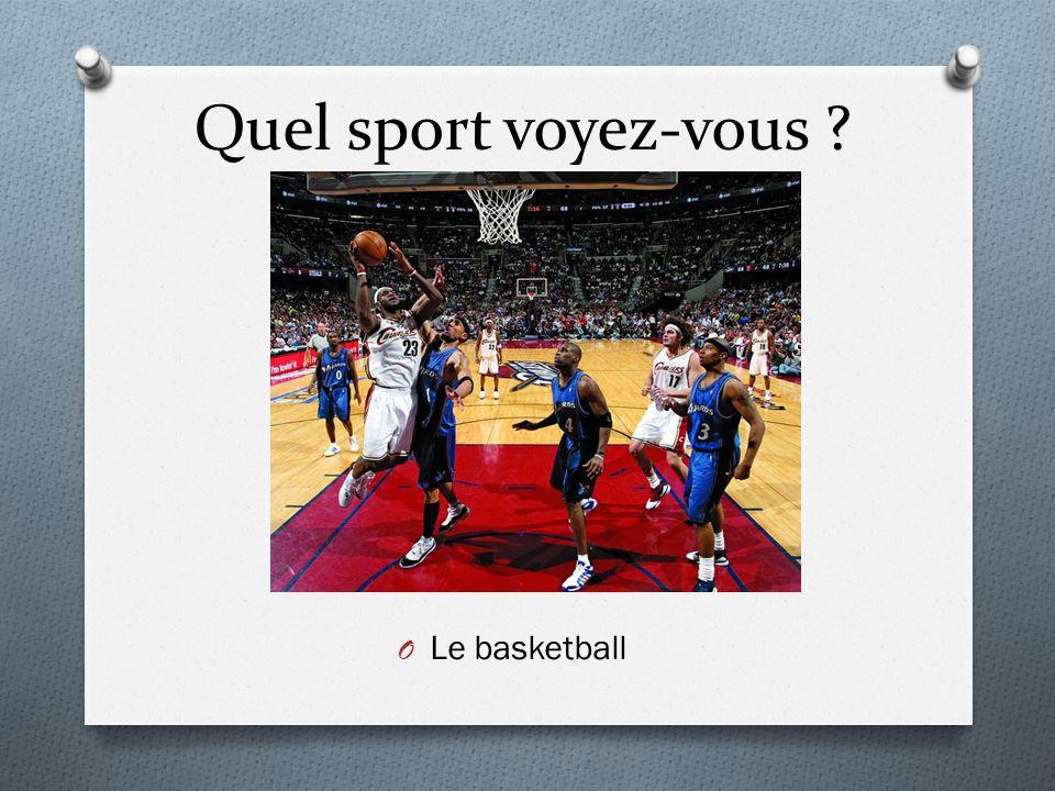 Quel sport voyez-vous ? O Le basketball
