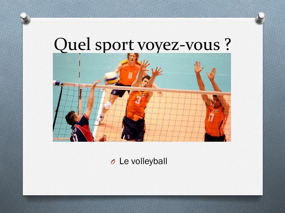 Quel sport voyez-vous ? O Le volleyball