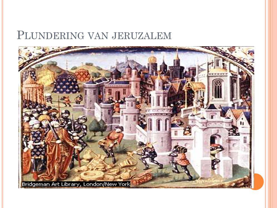 P LUNDERING VAN JERUZALEM