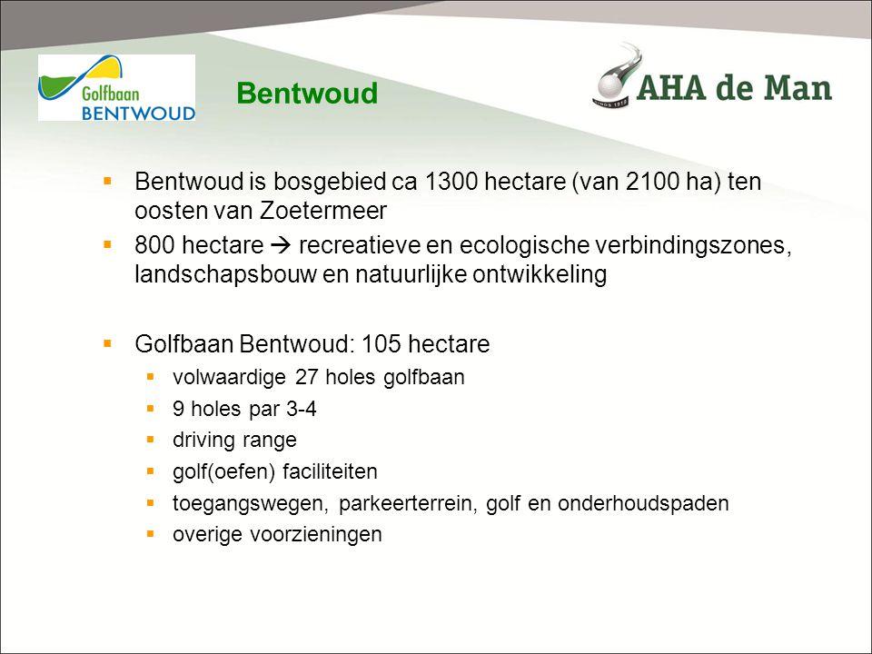 realisatie Golfbaan Bentwoud – werkzaamheden Voorbereidende werkzaamheden  Uitzetten etc.