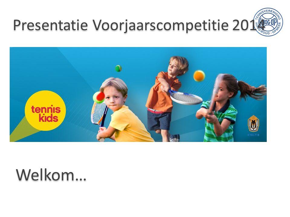 Presentatie Voorjaarscompetitie 2014 Welkom…