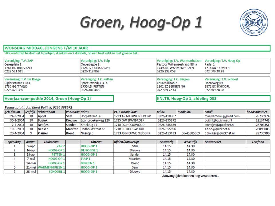 Groen, Hoog-Op 1