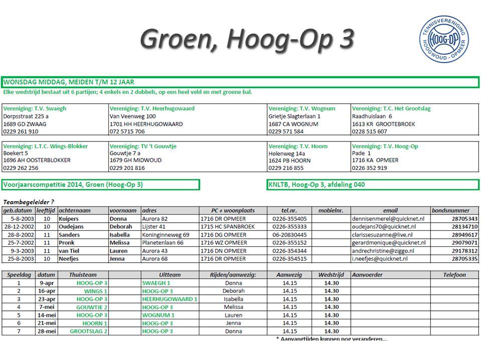 Groen, Hoog-Op 3