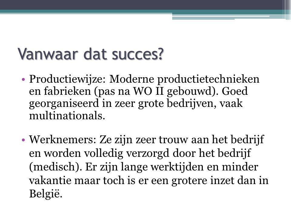 Vanwaar dat succes.