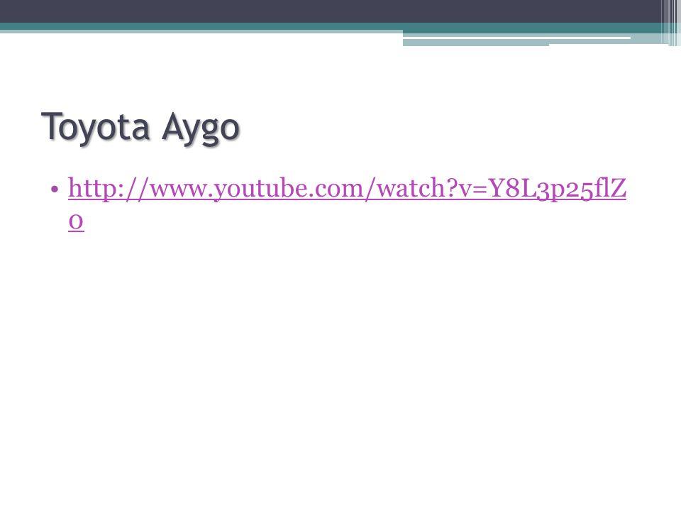 Toyota Aygo http://www.youtube.com/watch?v=Y8L3p25flZ 0http://www.youtube.com/watch?v=Y8L3p25flZ 0