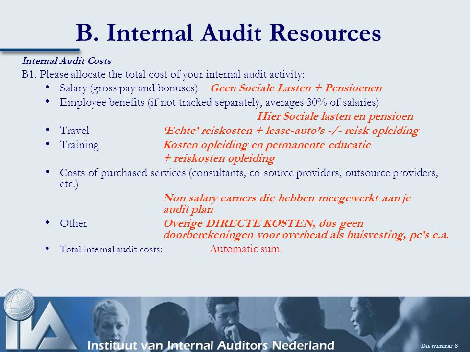 C.Internal Audit Oversight Dia nummer 19 Audit Committee C6.