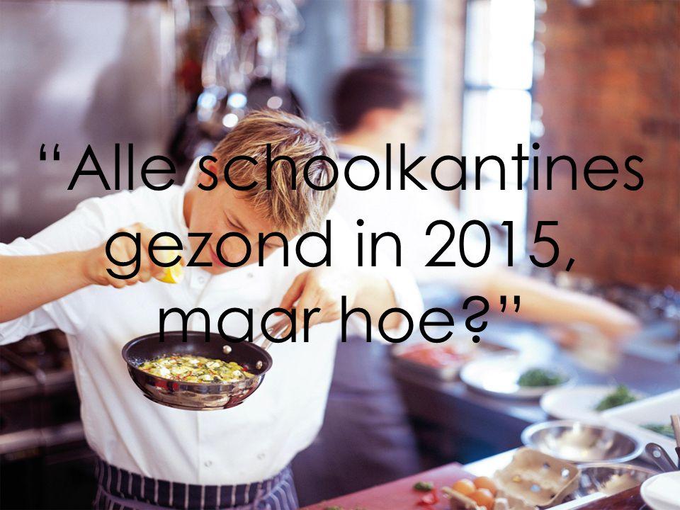 Alle schoolkantines gezond in 2015, maar hoe?