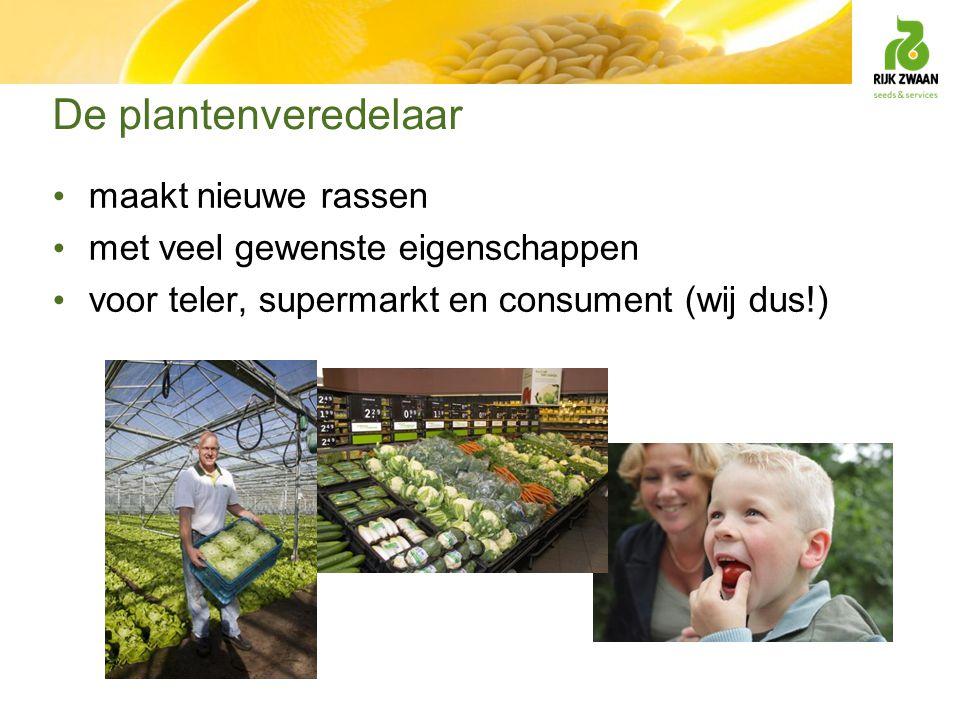 De plantenveredelaar maakt nieuwe rassen met veel gewenste eigenschappen voor teler, supermarkt en consument (wij dus!)