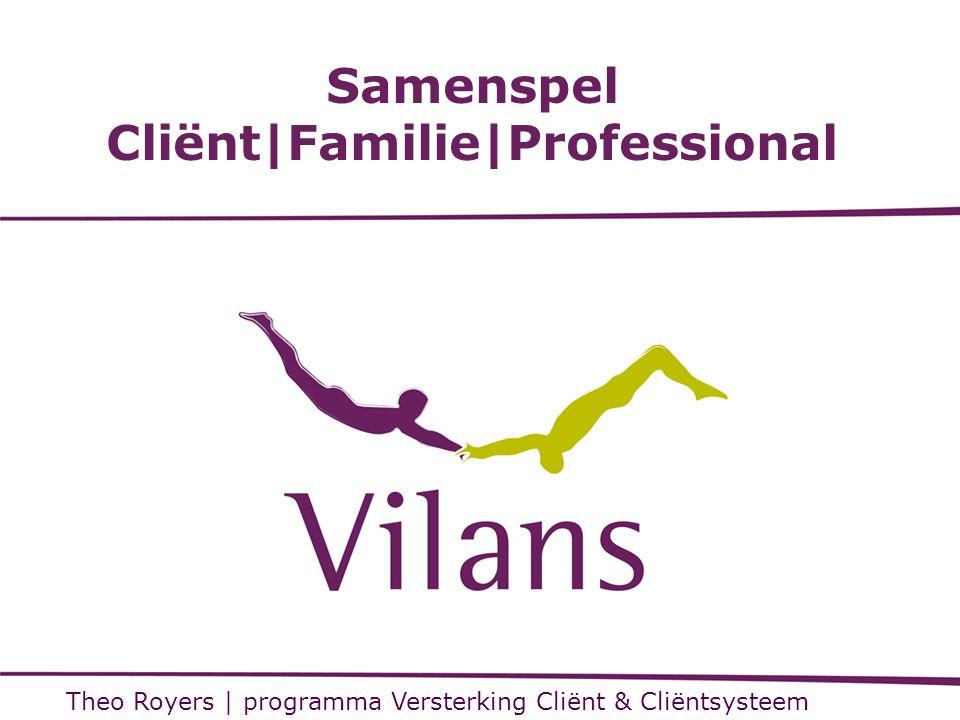 Samenspel Cliënt Familie Professional Theo Royers   programma Versterking Cliënt & Cliëntsysteem