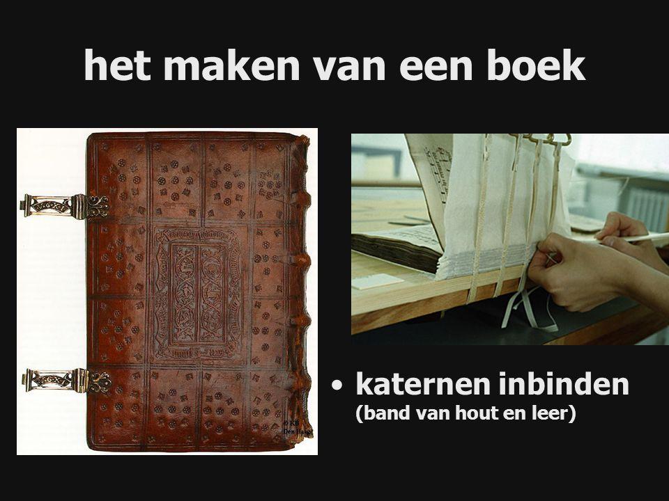 katernen inbinden (band van hout en leer) het maken van een boek