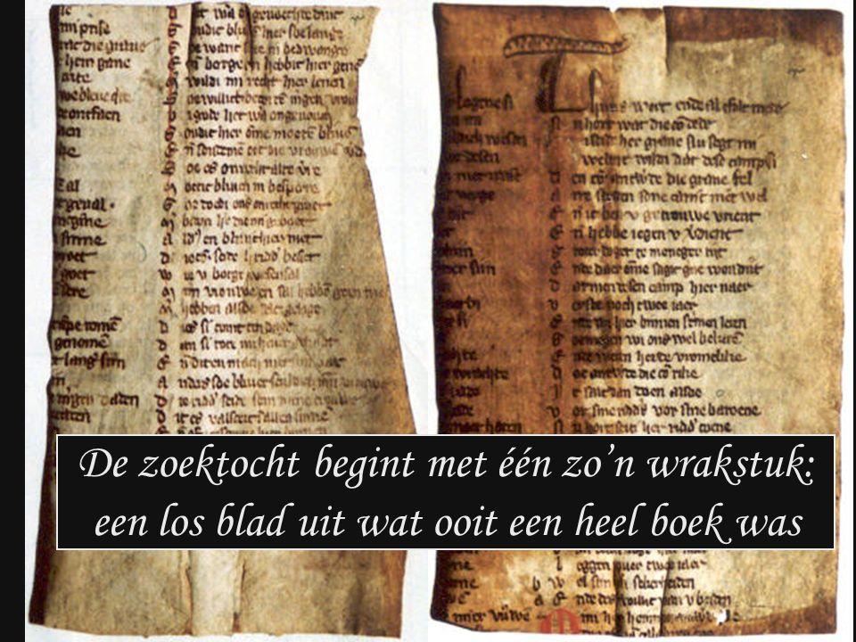 De zoektocht begint met één zo'n wrakstuk: een los blad uit wat ooit een heel boek was