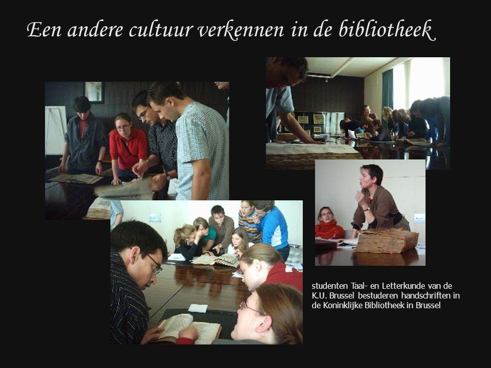 Een andere cultuur verkennen in de bibliotheek studenten Taal- en Letterkunde van de K.U.