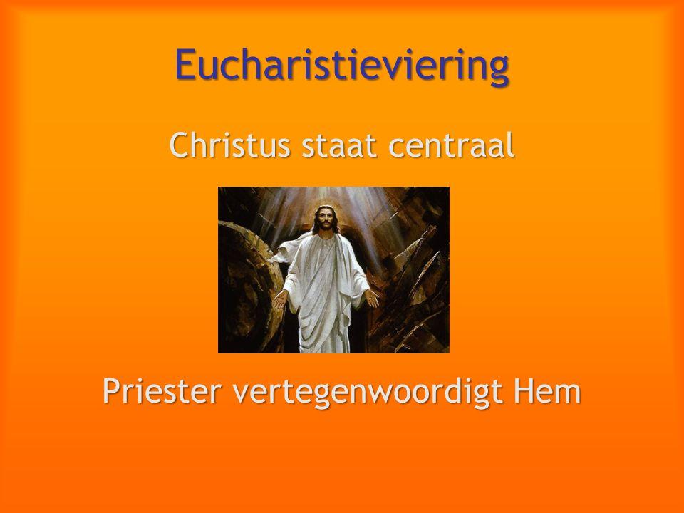 Eucharistieviering Christus staat centraal Priester vertegenwoordigt Hem