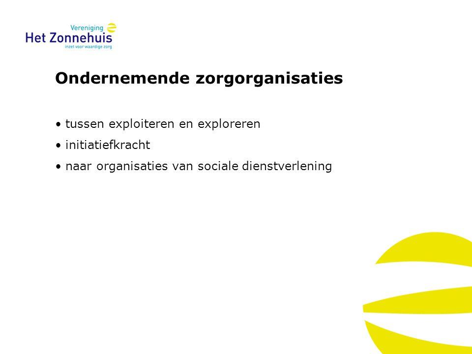 Ondernemende zorgorganisaties tussen exploiteren en exploreren initiatiefkracht naar organisaties van sociale dienstverlening