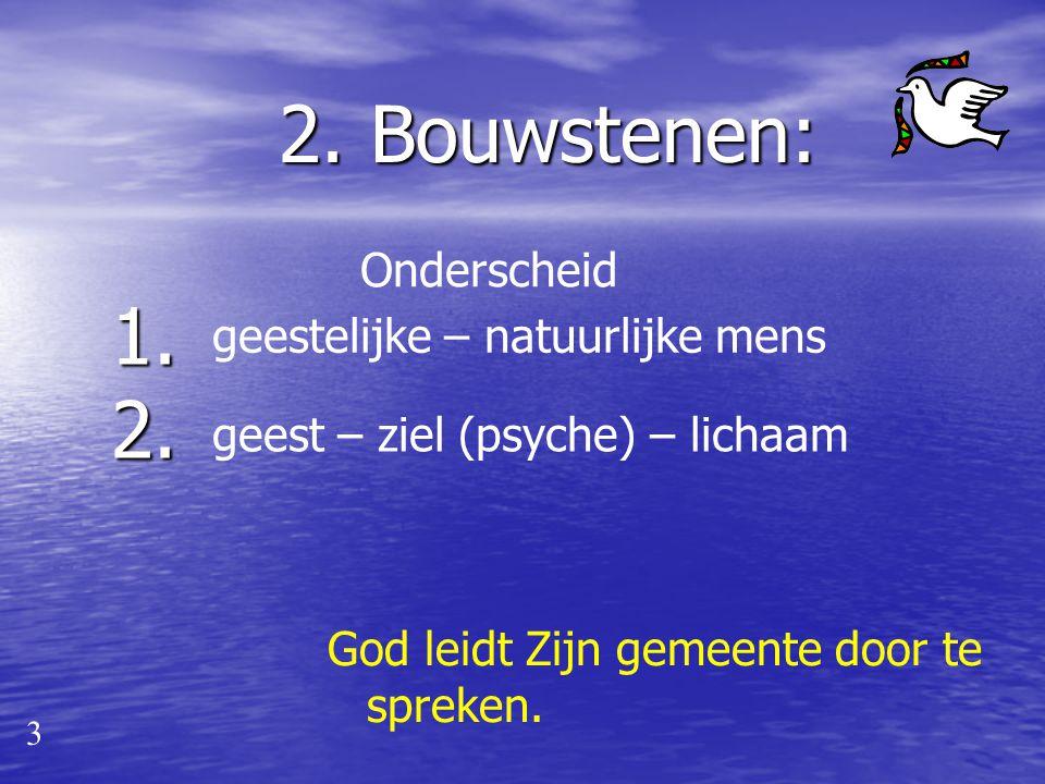 Uitgangspunt: 2 Christus is het hoofd van de gemeente. Hij regeert haar door Woord en Geest. Ambtsdragers zijn van Hem afhankelijk en dienen op Zijn l