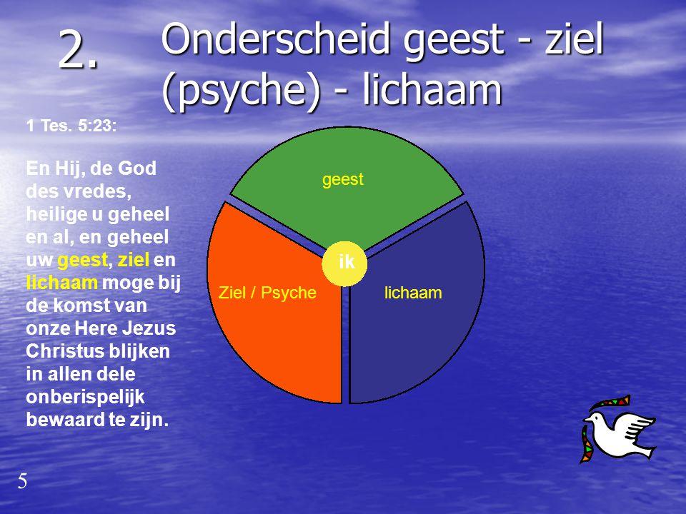 Onderscheid Geestelijk - natuurlijk (1 Korinthe 2:14-15): Maar de natuurlijke mens begrijpt niet de dingen, die van de Geest van God zijn; want zij zi