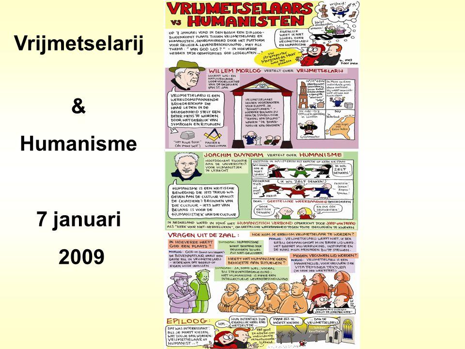 Vrijmetselarij & Humanisme 7 januari 2009