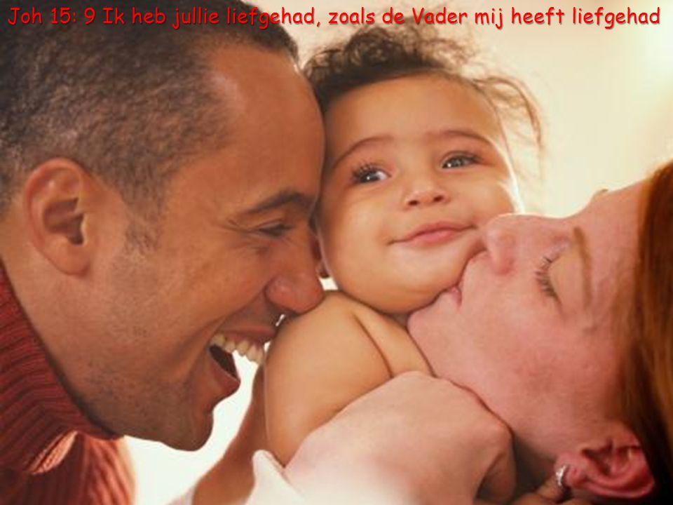 26 Joh 15: 9 Ik heb jullie liefgehad, zoals de Vader mij heeft liefgehad