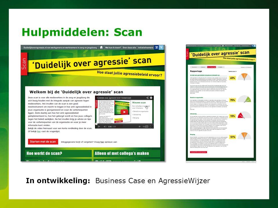 Hulpmiddelen: Scan In ontwikkeling: Business Case en AgressieWijzer