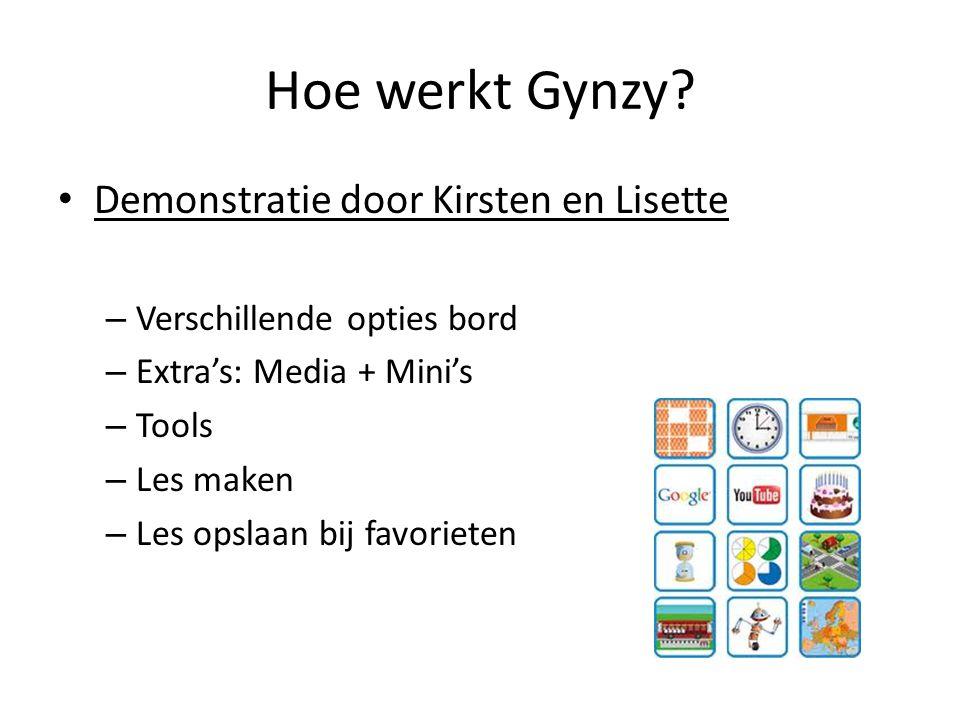 Hoe werkt Gynzy? Demonstratie door Kirsten en Lisette – Verschillende opties bord – Extra's: Media + Mini's – Tools – Les maken – Les opslaan bij favo