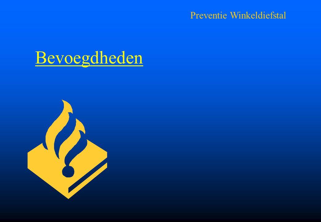 Preventie Winkeldiefstal Bevoegdheden