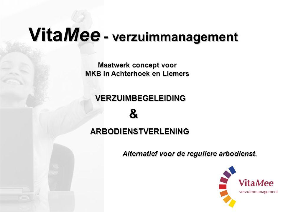 Maatwerk concept voor MKB in Achterhoek en Liemers & ARBODIENSTVERLENING Alternatief voor de reguliere arbodienst. VERZUIMBEGELEIDING VitaMee - verzui