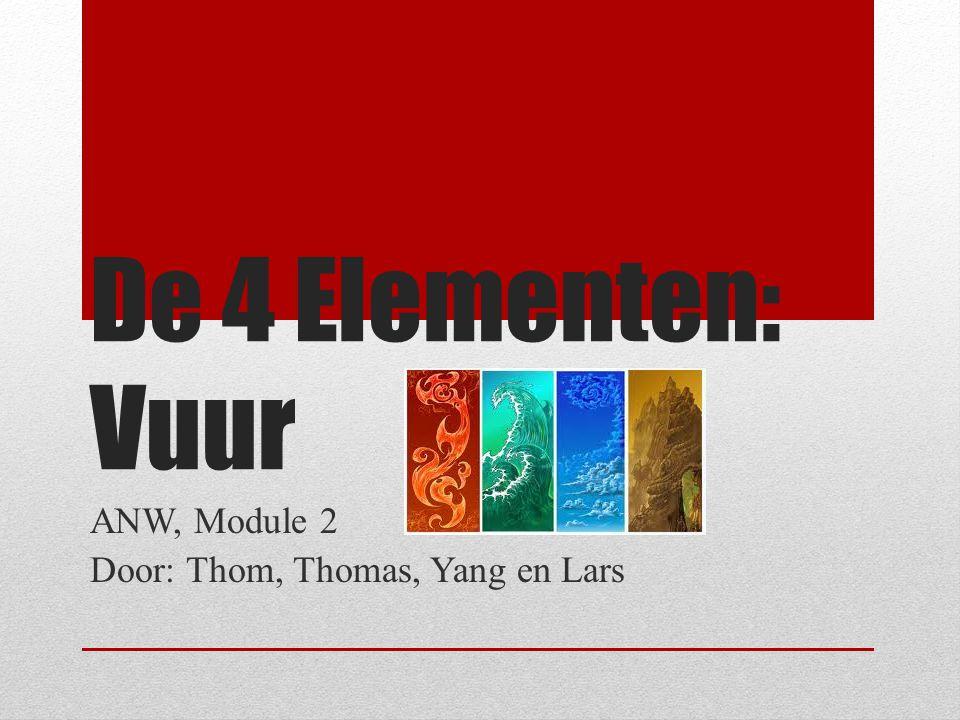 De 4 Elementen: Vuur ANW, Module 2 Door: Thom, Thomas, Yang en Lars