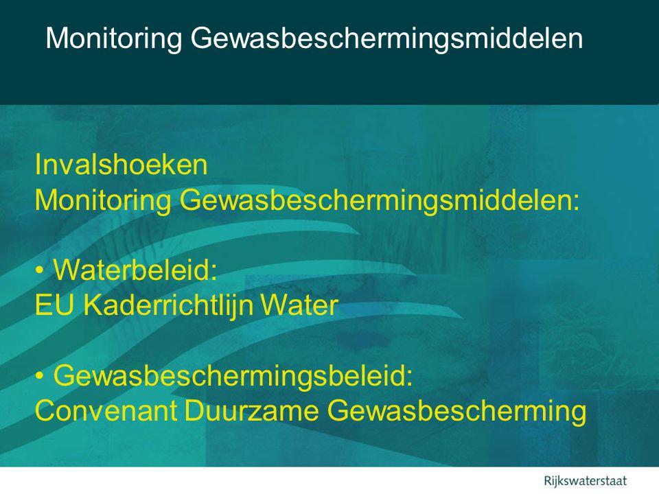 Monitoring Gewasbeschermingsmiddelen Monitoring t.b.v.