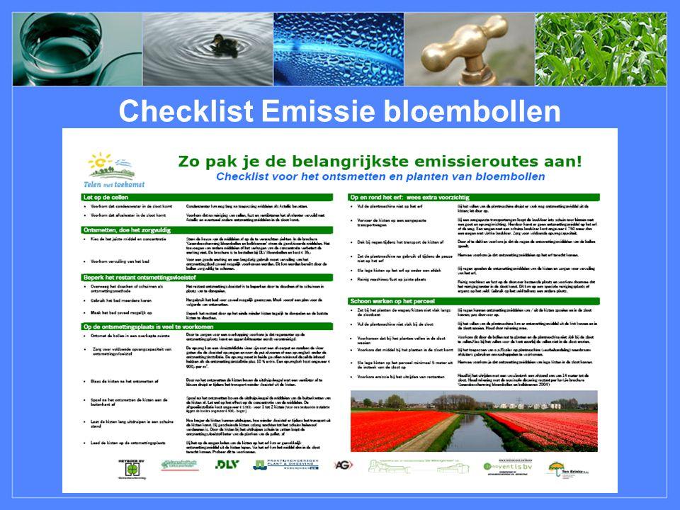 Checklist Emissie bloembollen