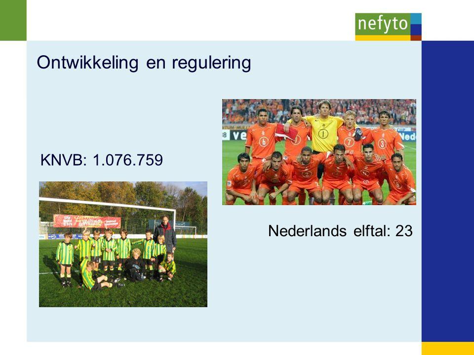 Ontwikkeling en regulering KNVB: 1.076.759 Nederlands elftal: 23