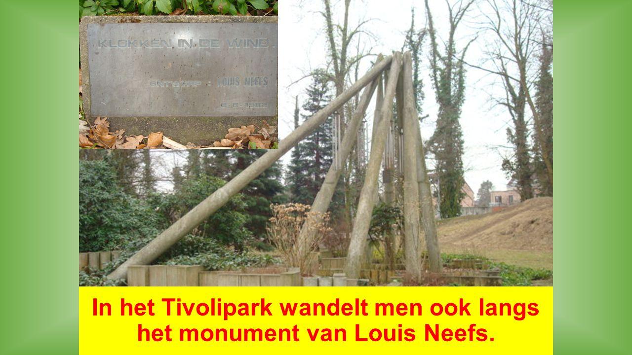 In het Tivolipark wandelt men ook langs het monument van Louis Neefs.