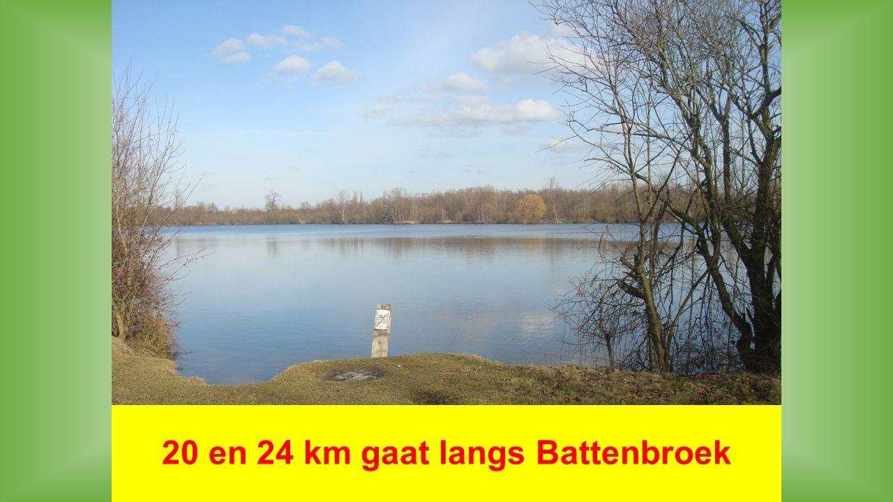 20 en 24 km gaat langs Battenbroek