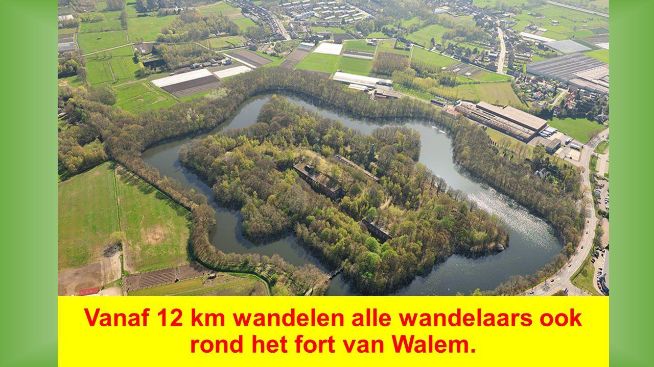 Vanaf 12 km wandelen alle wandelaars ook rond het fort van Walem.