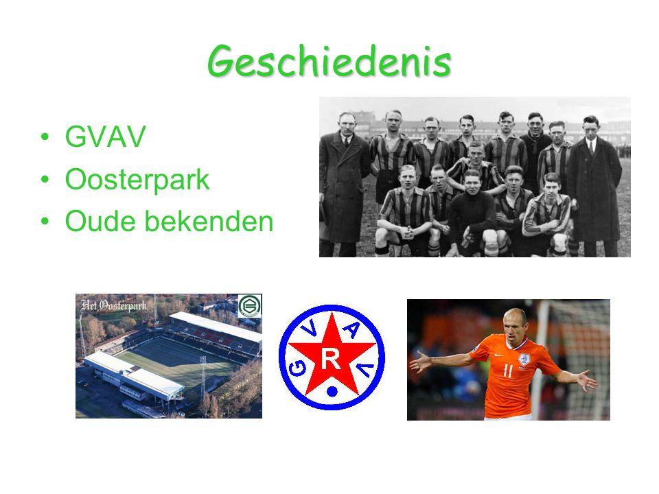 Geschiedenis GVAV Oosterpark Oude bekenden