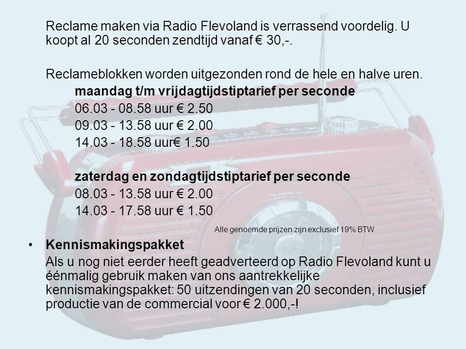Reclame maken via Radio Flevoland is verrassend voordelig.