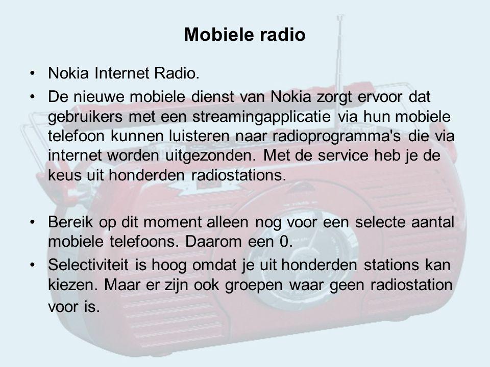 Mobiele radio Nokia Internet Radio.