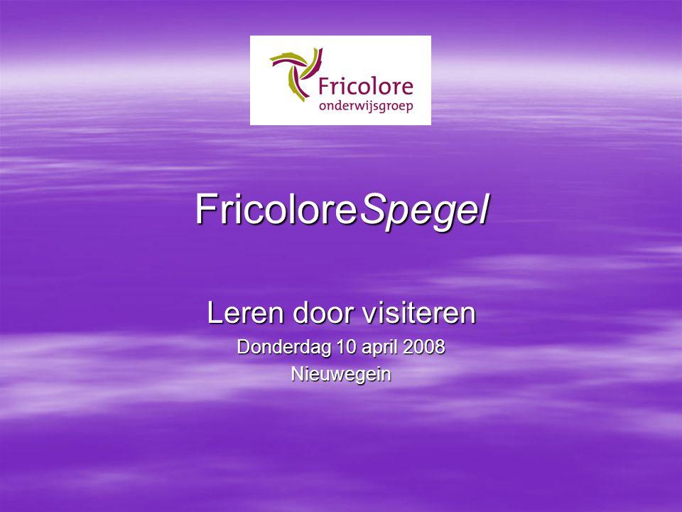 FricoloreSpegel Leren door visiteren Donderdag 10 april 2008 Nieuwegein