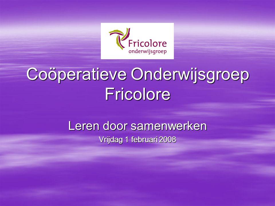 Coöperatieve Onderwijsgroep Fricolore Leren door samenwerken Vrijdag 1 februari 2008