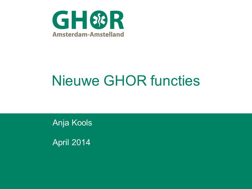 Nieuwe GHOR functies Anja Kools April 2014