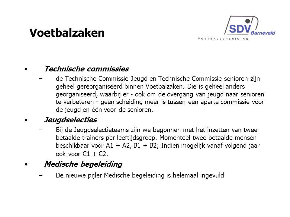 Technische commissies –de Technische Commissie Jeugd en Technische Commissie senioren zijn geheel gereorganiseerd binnen Voetbalzaken.