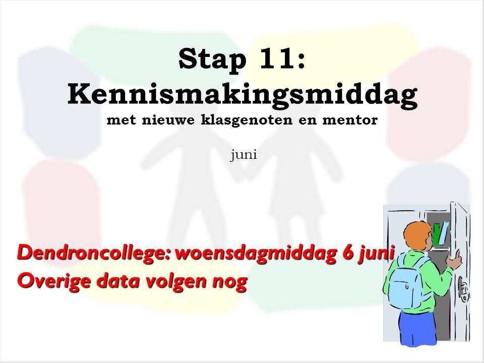 Stap 10: Schriftelijke bevestiging van de school voor Voortgezet Onderwijs dat uw kind is ingeschreven eind april /begin mei