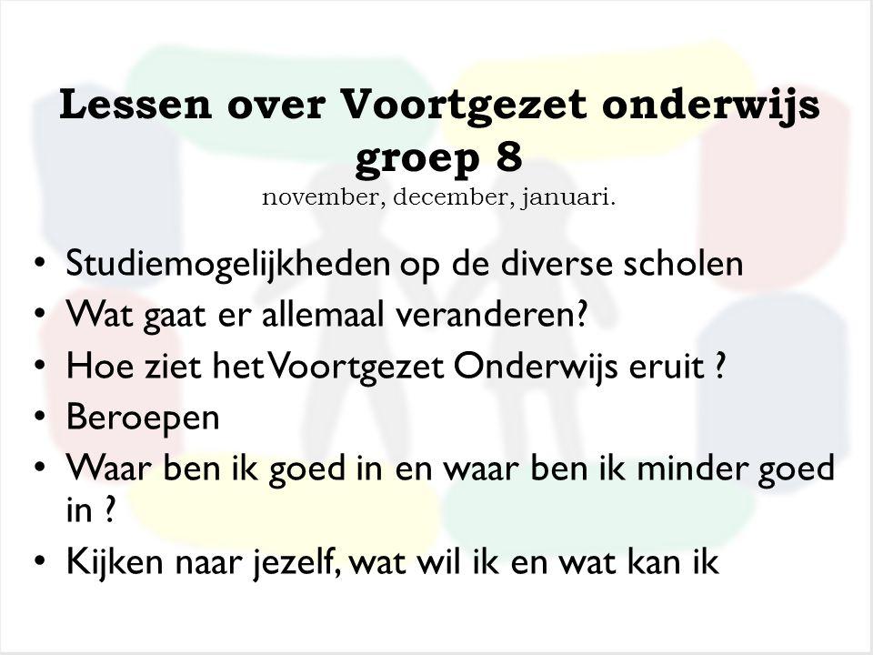Schriftelijke informatie van oktober t.m. januari Boekjes, folders, informatiebrochures van scholen uit de regio Venray-Horst-Venlo Algemene informati