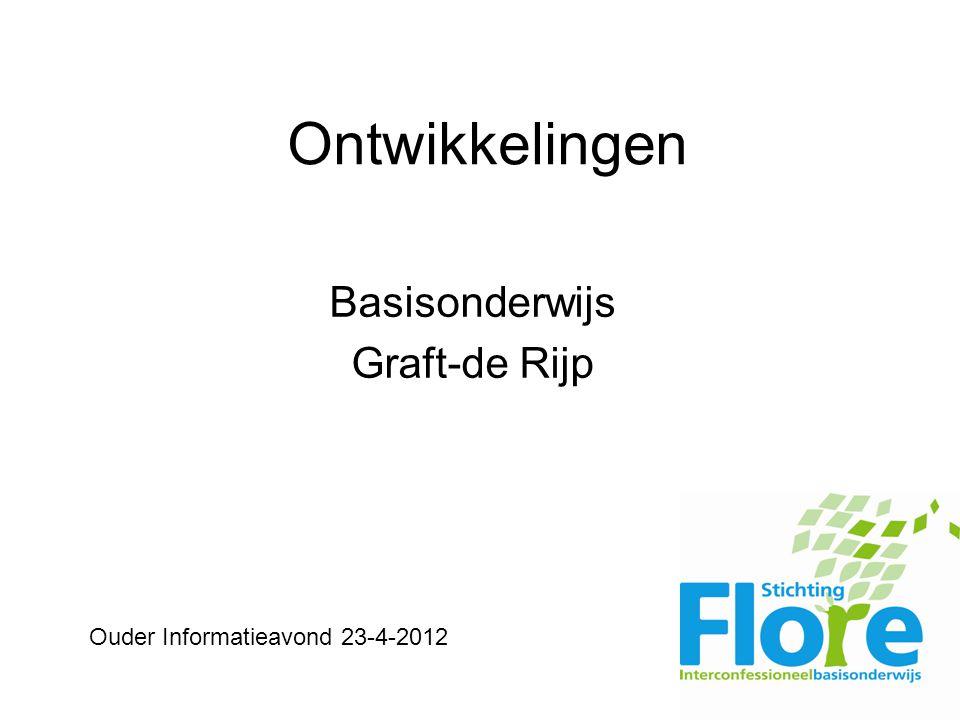 Ontwikkelingen Basisonderwijs Graft-de Rijp Ouder Informatieavond 23-4-2012