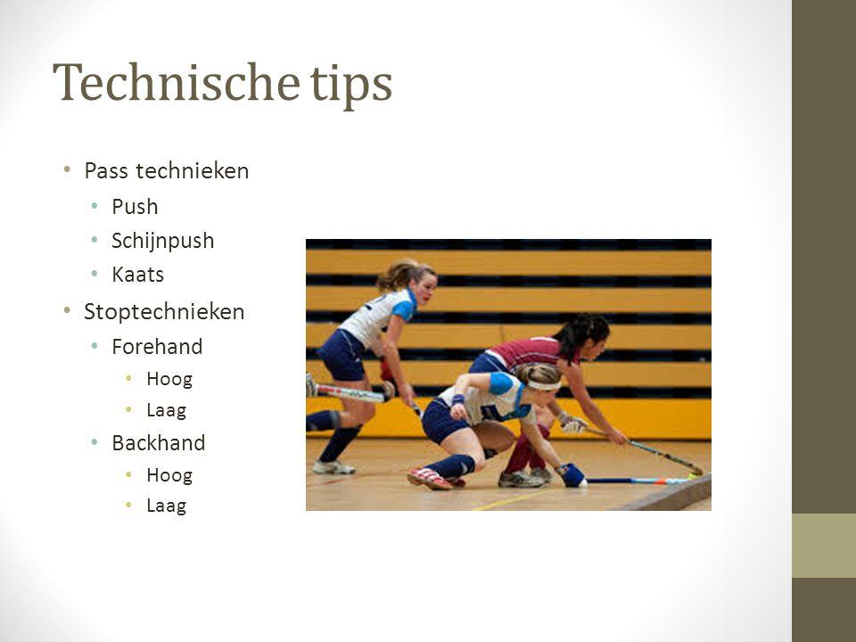 Technische tips Pass technieken Push Schijnpush Kaats Stoptechnieken Forehand Hoog Laag Backhand Hoog Laag