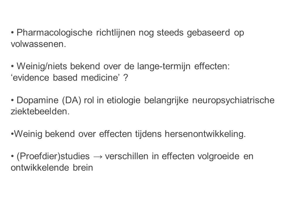 Pharmacologische richtlijnen nog steeds gebaseerd op volwassenen.
