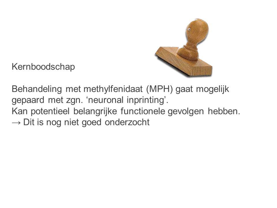 Kernboodschap Behandeling met methylfenidaat (MPH) gaat mogelijk gepaard met zgn.