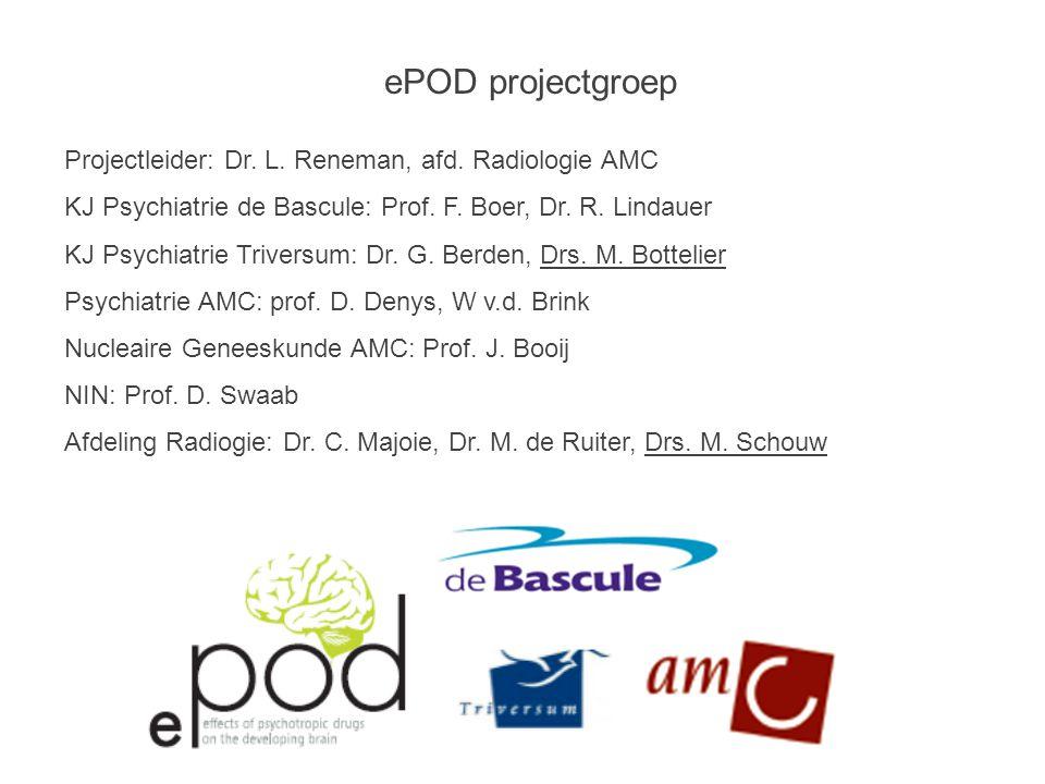 ePOD projectgroep Projectleider: Dr.L. Reneman, afd.