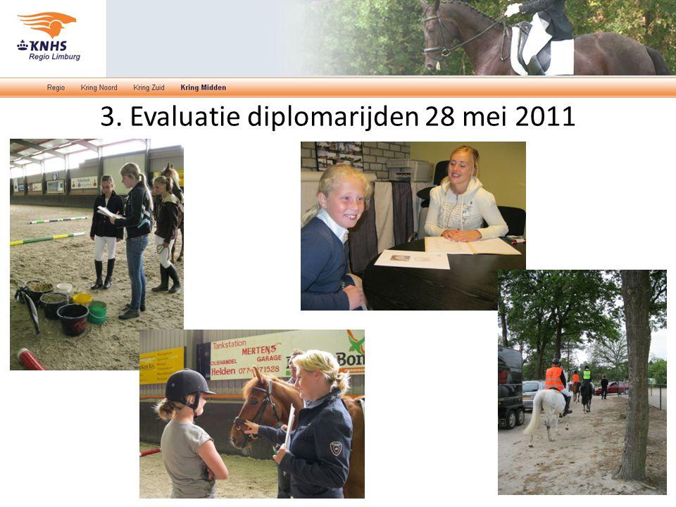 3. Evaluatie diplomarijden 28 mei 2011