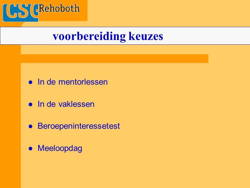 VMBO 4 sectoren: 1Techniek 2 Landbouw(groen) 3Economie 4Zorg & Welzijn Basis-of Kader: binnen de sector ook nog een afdeling.